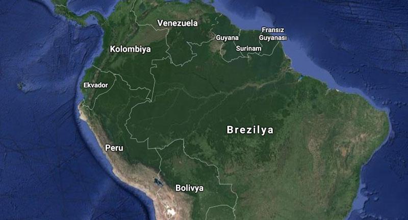 Amazon Ormanları Nerede