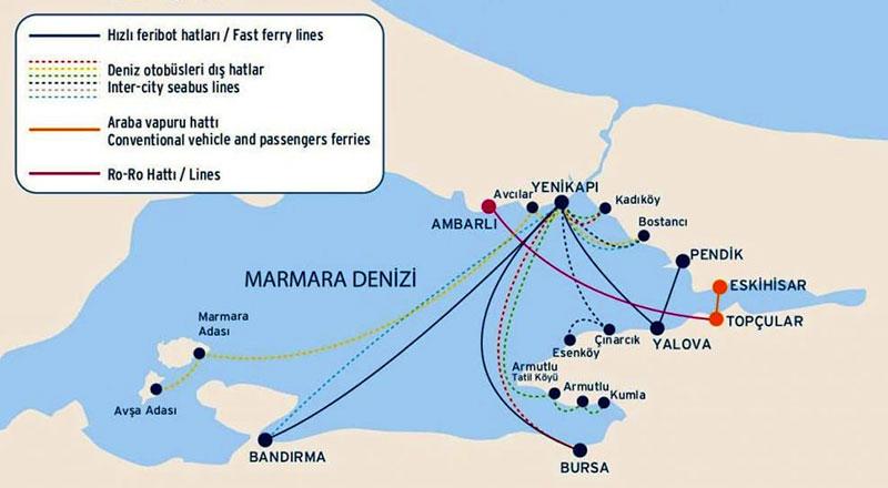 İDO deniz haritası