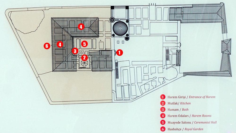 İshak Paşa Sarayı Harita
