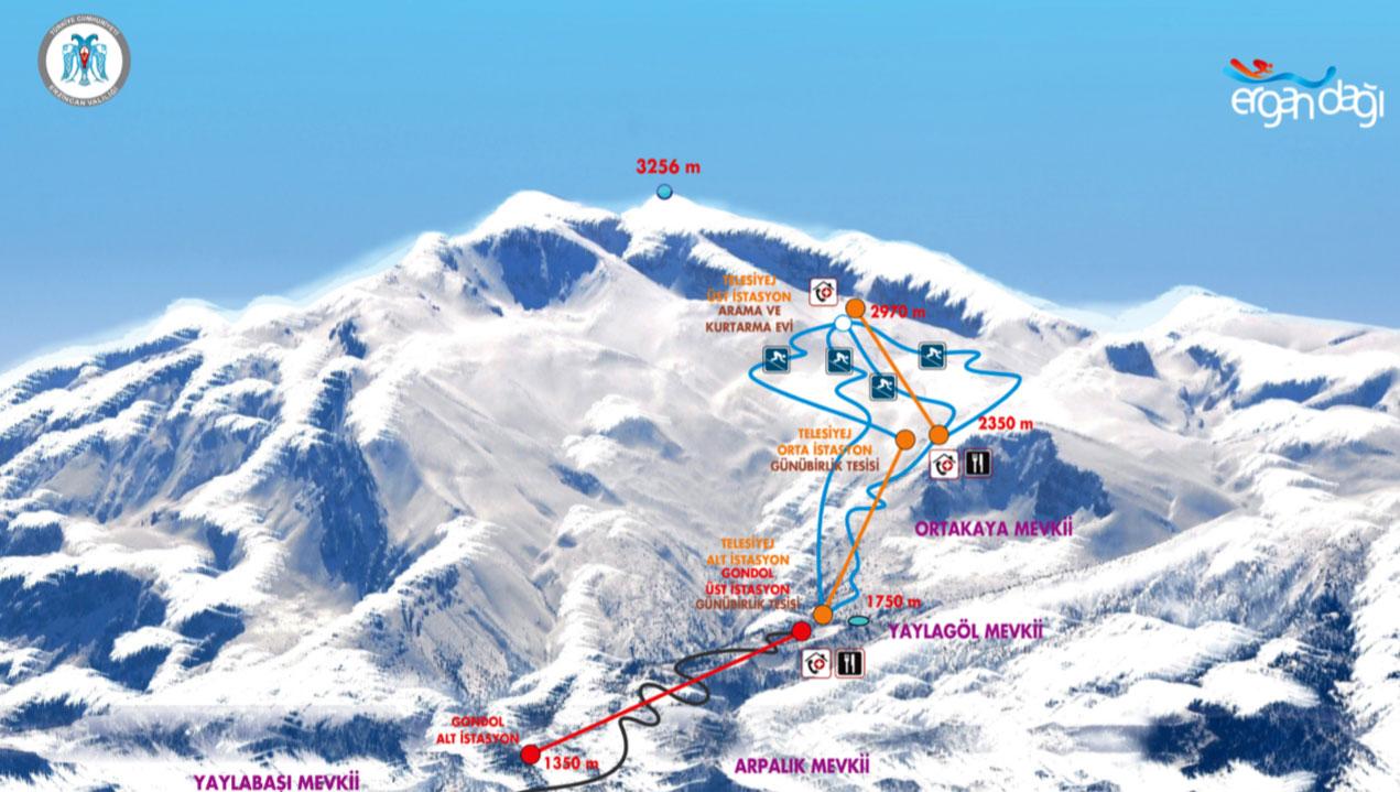 Ergan Kayak Pistleri Harita