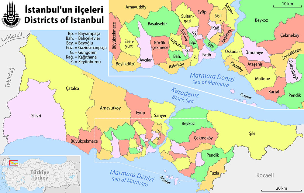 İstanbul'un İlçeleri